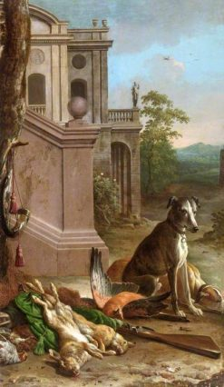 Dead Game in a Landscape | Melchior d'Hondecoeter | Oil Painting