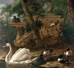 Birds in a Garden | Melchior d'Hondecoeter | Oil Painting