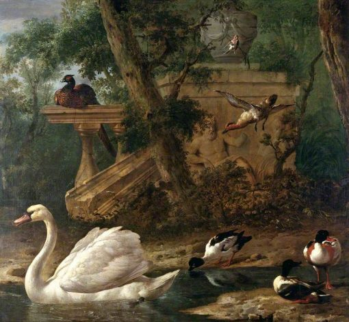 Birds in a Garden | Melchior d'Hondecoeter | Oil Painting