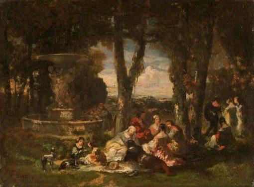 Fête champêtre   Narcisse Dìaz de la Peña   Oil Painting