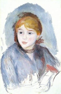 Young Girl in Blue | Pierre Auguste Renoir | Oil Painting