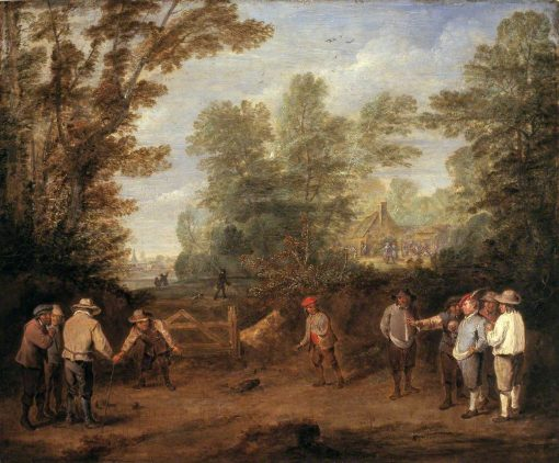 A Game of Bowls | Pieter Angellis | Oil Painting