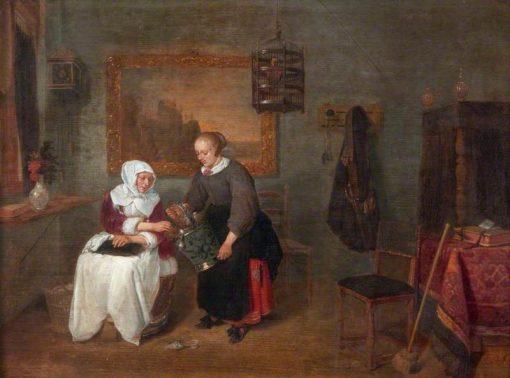 A Dutch Interior | Quiringh van Brekelenkam | Oil Painting