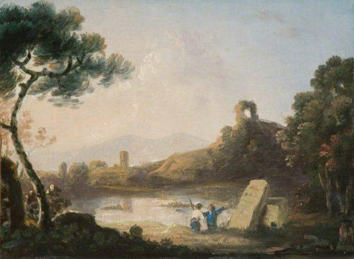 Lake Avernus with a Sarcophagus | Richard Wilson