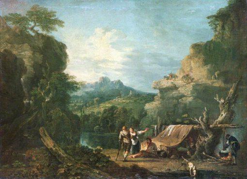 Landscape with Banditti round a Tent | Richard Wilson