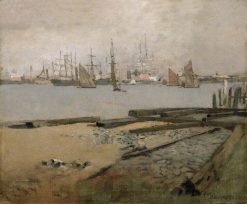 Shipping on the Thames | Sir Frank William Brangwyn | Oil Painting