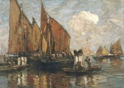Venice: St Mark's from the Lagoon | Sir Frank William Brangwyn | Oil Painting