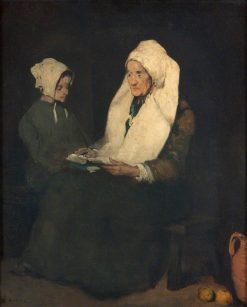 The Admonition | ThEodule Augustin Ribot | Oil Painting