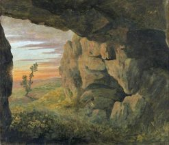 A Cavern near Saint Agnese without the Porta Pia | Thomas Jones | Oil Painting