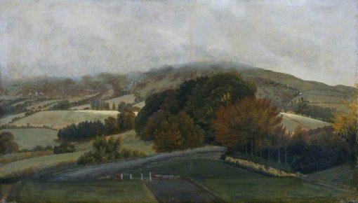 Carneddau Mountains from Pencerrig   Thomas Jones   Oil Painting