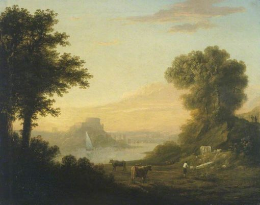 Classical Landscape with a River | Thomas Jones | Oil Painting
