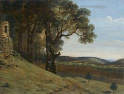 Field near Pencerrig   Thomas Jones   Oil Painting