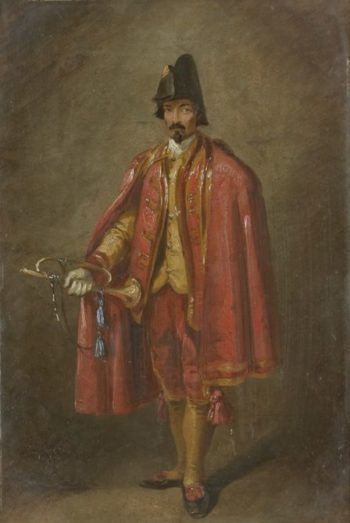 The Trumpeter   Thomas Jones Barker   Oil Painting