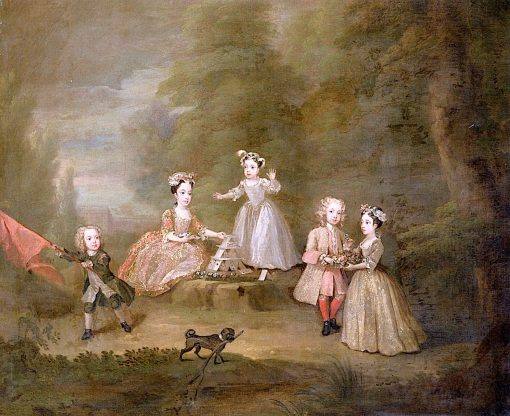 Children at Play I:The House of Cards(also known as The Fermor Children) | William Hogarth | Oil Painting