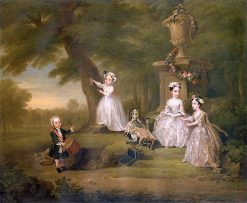 Children at Play II: The Dolls' Tea Party(also known as The Fermor Children)   William Hogarth   Oil Painting