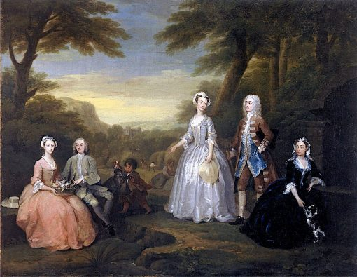 Robert Jones of Fonmon Castle and His Family | William Hogarth | Oil Painting