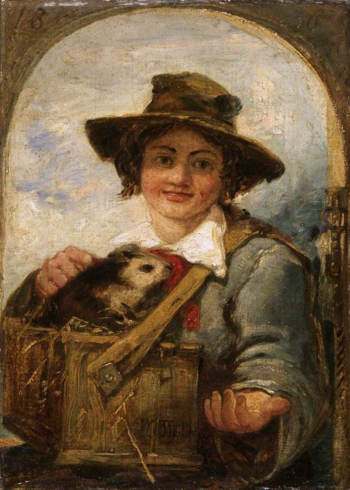 Italian Boy with a Guinea Pig | William James Muller | Oil Painting
