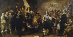 Civic Guardsmen of the Company of Captain Joan Huydecoper and Lieutenant Frans van Waveren | Govaert Flinck | Oil Painting