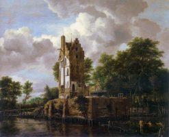 Huis Kostverloren on the Amstel River | Jacob van Ruisdael | Oil Painting
