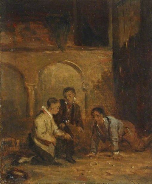 Boys Playing Marbles | David Wilkie | Oil Painting