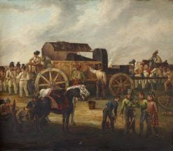 A Field Forge in the Peninsular War | French School th Century   Unknown | Oil Painting
