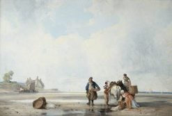 Coastal Scene of Northern France | Richard Parkes Bonington | Oil Painting