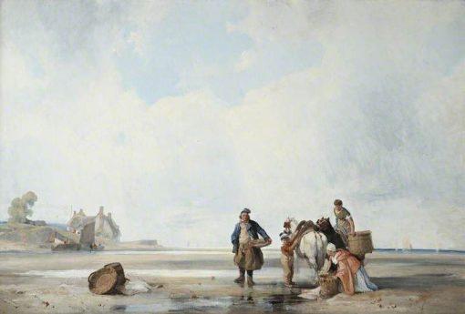 Coastal Scene of Northern France | Richard Parkes Bonington | Oil Painting