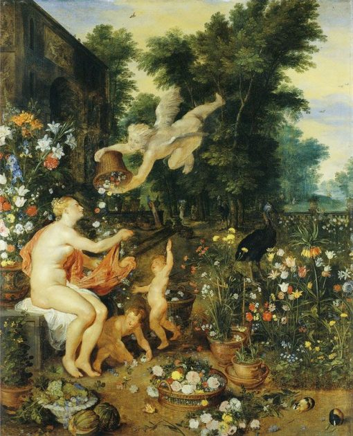 Flora and Zephyr | Jan Brueghel the Elder | Oil Painting