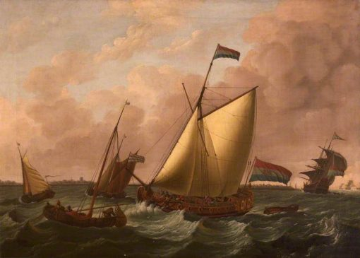 Dutch Ships Going before the Wind | John Cleveley the Elder | Oil Painting