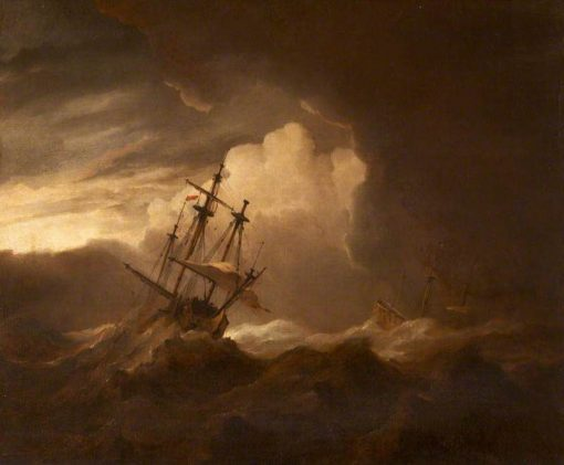 Ships in a Storm | Willem van de Velde the Younger | Oil Painting