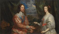 Charles I and Henrietta Maria Holding a Laurel Wreath | Anthony van Dyck | Oil Painting