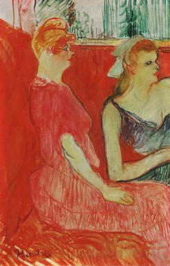 Study for 'In the Salon on the rue des Moulins' | Henri de Toulouse Lautrec | Oil Painting