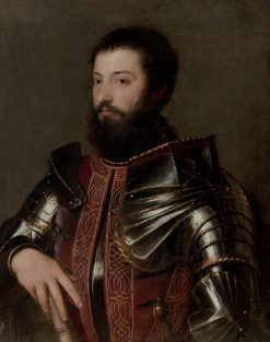 Portrait of a Man in Armor | Titian | Oil Painting