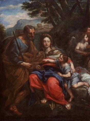 Holy Family   Carlo Maratta   Oil Painting