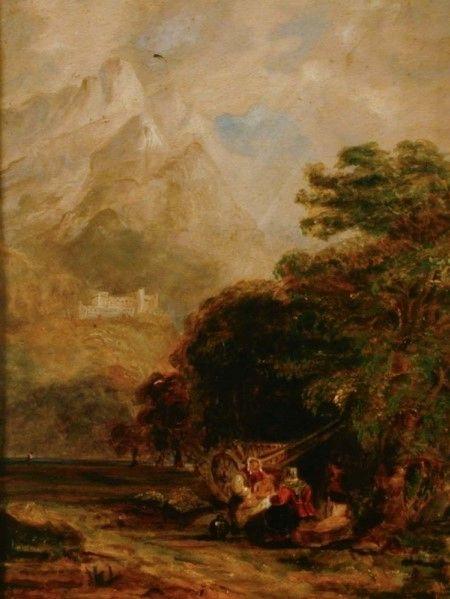 Swiss Landscape   William James Muller   Oil Painting