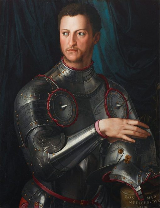 Cosimo I d' Medici in Armour | Agnolo Bronzino | Oil Painting