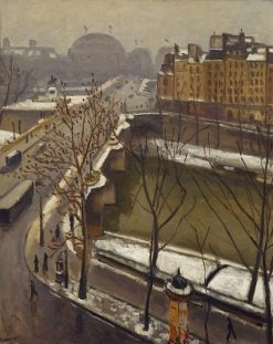 The Pont Neuf in the Snow | Albert Marquet | Oil Painting