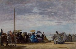 The Beach   Eugene Louis Boudin   Oil Painting