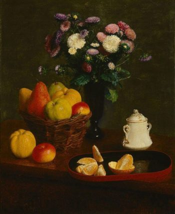Flowers and Fruit | Henri Fantin Latour | Oil Painting