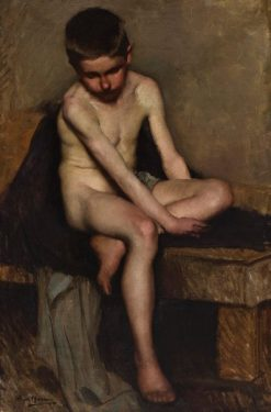 Nude Study of a Boy   Hugh Ramsay   Oil Painting