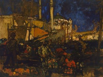 The Golden Horn   Sir Frank William Brangwyn   Oil Painting