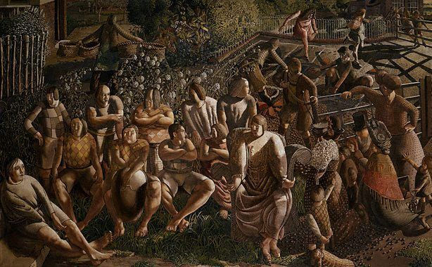 Christ in Cookham(also known as Christ Calling the Apostles)   Stanley Spencer   Oil Painting