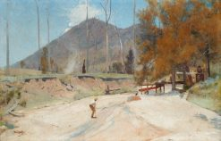 On the Timbarra - Reek's and Allen's sluicing claim | Tom Roberts | Oil Painting