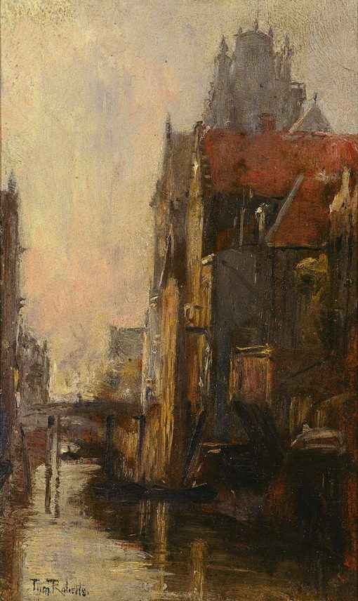 Canal Scene | Tom Roberts | Oil Painting