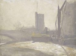 Thames Barges | Tom Roberts | Oil Painting