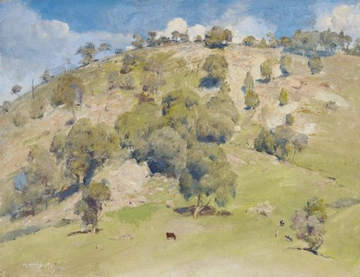 Trawool Landscape   Tom Roberts   Oil Painting