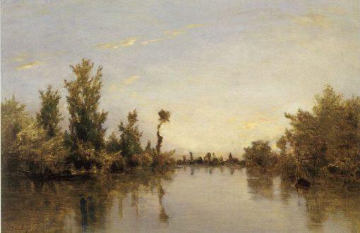 Banks of the Seine   Charles Francois Daubigny   Oil Painting