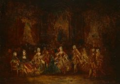Persons in Louis XV Costumes | Adolphe Joseph Thomas Monticelli | Oil Painting
