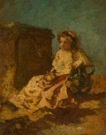Meditation (Seated Woman) | Adolphe Joseph Thomas Monticelli | Oil Painting
