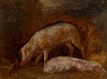 Pigs | Alexandre Gabriel Decamps | Oil Painting